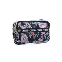Wholesale Sack Pack Women - Wholesale Sport Cluth Bag Cosmetic bag Nylon Mini Print Stuff Sacks Women Outdoor Packs Small Travel Phone Zipper Summer Light weight VK5253