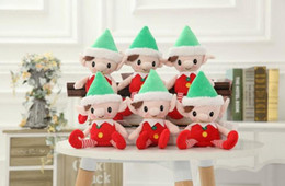 Wholesale Toys Shelf - 2018 Christmas Santa Elf Plush Toys 30cm Cute Christmas Spirit Doll Elf On Shelf Christmas Plush Doll Stuffed Toy Santa Deco Elves Toys