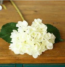 Wholesale Home Decorate Flowers - Hydrangea Flower Wedding Hydrangea flowers decorated with Home Furnishing artificial silk