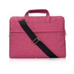 Wholesale Macbook Messenger - Canvas Laptop Bag Sleeve Case for MacBook Air 11 Pro Retina 13 15 handle shoulder strap notebook bag