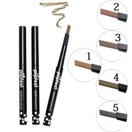crayones de pluma Rebajas Al por mayor-Maquiagem Eyes maquillaje a prueba de agua lápiz de cejas delineador de ojos de larga duración cejas lápiz lápices de colores maquillaje marrón Sobrancelha