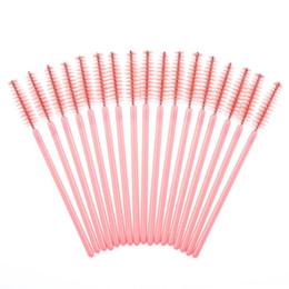 Wholesale Girls Wands - Wholesale-Hot!!! Best Deal 2016 New Arrival Hot Sale Soft Girl 50Pcs Disposable Eyelash Brush Mascara Wands Makeup Cosmetic Tool