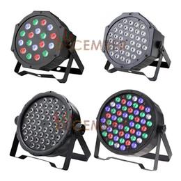 Wholesale 54 Led Par Lights - RGB 3 in 1 RGBW 4 in 1 DMX512 LED PAR Lights 18 LEDs*3W 36 LEDs*3W 54 LEDs*3W LED Stage Light