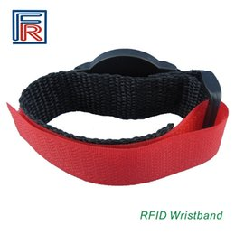 Wholesale Wholesale Wristbands For Events - 13.56mhz RFID Nylon wristband bracelet with F08 compitable M1 s50 chip for access control payment event