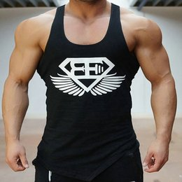 Wholesale Cheap Wholesale Tank Tops Men - Wholesale- New Brand clothing Bodybuilding Fitness Men Tank Top Golds Vest Stringer Undershirt cheap throwback Sportswear jerseys M-2XL