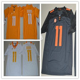 Wholesale Boys Athletic Shorts Xl - 2017 Tennessee Volunteers Youth Jerseys 11 Joshua Dobbs College sports boys jersey Embroidery Athletic Outdoor Apparel jersey
