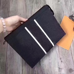 Wholesale Leather Envelope Clutch Bags - POCHETTE VOYAGE day clutches men bag Genuine Leather handbags business card holder phone bag envelope clutch purse male 2017
