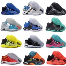 Wholesale Leather Baseball Balls - Free shopping Kyrie Irving Shoes Mens Basketball Shoes Kyrie 2 II Bright Crimson Tie Dye BHM Basket Ball Olympic Men Shoes Sneakers