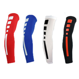 Wholesale Wholesale Knee Braces - Wholesale- High Quality Mens Sports Basketball Shooting Cycling Compression Arm Sleeve Elbow Protector Pad Pads Support Brace Arm Warmers