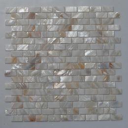 [ENVÍO GRATIS] 15x30mm patrón de ladrillo, color natural madre de perla mosaico de concha, para pared, piso, columna utilizada # MS081 desde fabricantes