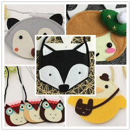 Wholesale Kids Owl Purses - 27 Style Ins Owl Kids Bags Purses Baby Girl Fox Cat Coin Children Accessories Animal Purses Cartoon Minnie Body Coin Purse wallet B001