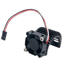 Wholesale rc brushless motors - 2PC RC HSP Black Alum 540 Motor Heat Sink & DC 7.2V Brushless Fan For 3650 Motor
