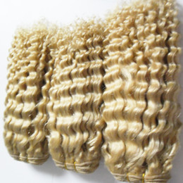 Wholesale Double Drawn Virgin - 613 blonde virgin hair 3 bundles virgin brazilian Deep wave hair weaves,Double drawn,No shedding,tangle free