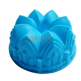 Wholesale Microwave Bread Baking - Wholesale- Large crown silicone cake mold microwave baking tools novelty cake molds bread moulds SCM-003-4