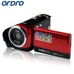 Wholesale photo cameras - Wholesale-Ordro 2.7 inch Reflex Digital Photo Cameras HD 720P 16X Zoom Professional Video Recorder Camcorders W  Face Recognition