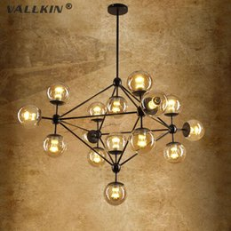 Wholesale Vintage Bubble Light Lamp - VALLKIN® Modo Magic Bean Chandeliers Pendant Lights Lamps Lighting Fixtures For Living Room Mall Hotel AC110-240V LED DNA Bubble Glass Ball