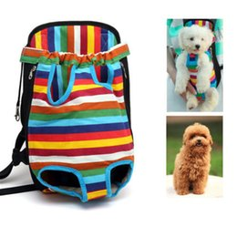 Wholesale Pet Sling Bag - Canvas Pet Puppy Dog Cat Carrier Backpack Front Bag Tote Sling Carrier durable breathable mesh New