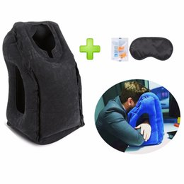 Wholesale Airplane Silk - Wholesale- 2017 Newest Travel Pillow For Airplanes, Car Train Office Multifunctional Inflatable Travel Pillow