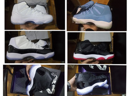 Wholesale Space Boots - 11s Space Jam Mens Basketball Shoes 45 back Gym Red Women sneaker High Quality Sports Sneakers 11 boots white black red