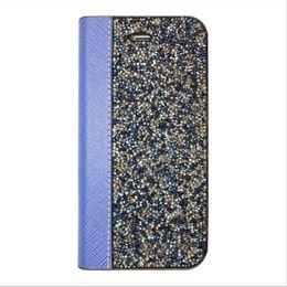 Wholesale Iphone Glitter Flip Case - Rock Luxury Crystal Rhinestone Wallet Case For IPhone 7 6s 6 Plus SE 5s 5 Bliing Glitter Diamond Flip Cover OPP BAG