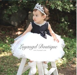 Wholesale Girls Cotton Party Dresse - Retail Girl Party Dresses 8085 Children Clothes Girl Beading Collar Bowknot Princess Dresse Performance Dresses 3-8T
