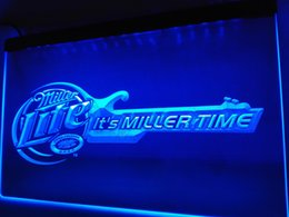 Wholesale Led Guitar Lights - LE017b- Miller Lite Beer Bar Guitar LED Neon Light Sign