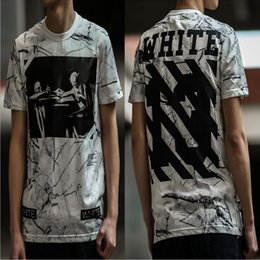 Wholesale Designer Shirts For Women - 2017 Summer Kanye West designer virgil abloh off white t shirts xxl skull marble 3d printed brand tshirt for men women casual tees