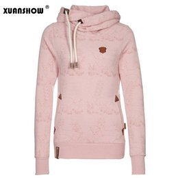 Wholesale Hoodies Ladies Sport - 2017 New Women's Fleece Hoodies Sweatshirts Coats Fashion Casual Sports Hooded 3D Deer Print Warm Sweatshirts Ladies Clothing