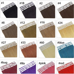 Wholesale Skin Weft 24inch - Top quality 50g 20pcs 25pcs Glue Skin Weft PU Tape in Human Hair extensions 18 20 22 24inch Brazilian Indian hair extension