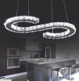 Wholesale Large Size Led Chandeliers - New Design S Type LED modern crystal chandelier lighting large size L630mm*H260mm 3 years warranty luxury pendant Free shipping MYY