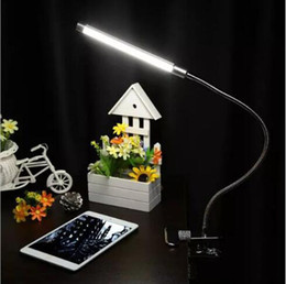 Wholesale Desk Study Lamps - 6W led flexible table light adjustable desk lights usb 18LED clip on night light reading office table lamps led indoor lighting