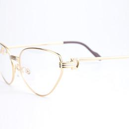 Wholesale Mens Reading Glasses - Metal Frames Business Cat Eyesglasses Optical Brand Designer Prescription Mens Reading Myopia Glasses for Women With Original Box