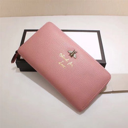 Wholesale Womens Tops Large - Hot sales Newest Fashion style high quality womens Zipper wallet,Large-capacity purse with Metal bee,Top quality doule G wallets
