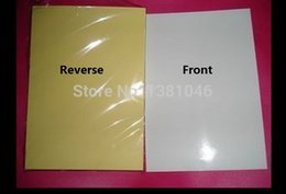Wholesale Self Adhesive A4 - Wholesale- 2016 20 Pcs A4 Glossy Blank White Self Adhesive Sticker Paper For Laser Printer 21 x 29.7cm
