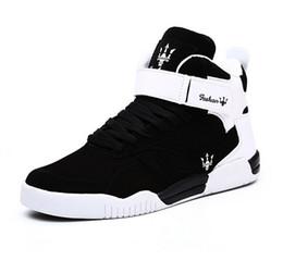 Canada Vente chaude Couleur Unie Hip Hop Chaussures Hommes Blanc Chaussures De Danse Plate-forme Haut Augmenté Hommes Hauts Hauts Sapatos Masculinos Plus Taille Chaussures De Marche cheap shoe hop high Offre