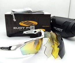 Wholesale Rudy Lens - 4 Lens! Brand Designer Fashion Polarized Rudy Project TRALYX Sunglasses Outdoor UV400 Sports Glasses Riding Cycling Bicycle Sun Glasses