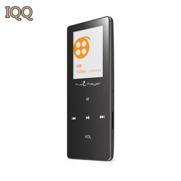 Wholesale Touch Mp3 Player Games - Wholesale- High Quality IQQ X01 MP3 HiFi lossless 8G mp3 music player touch screen metal MP3 audio player with FM radio Pedometer bluetooth
