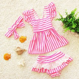 Wholesale Toddler Girls Tankini Swimwear - children swimsuit separate kids girl swimwear mermaid swimsuit for kids baby girl bikini toddler girls bathing suits tankini