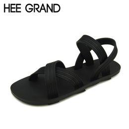 Wholesale Elastic Strap Gladiator - Wholesale-HEE GRAND Summer Men Sandals Casual Shoes Comfortable Plain Soft Flip Flops Beach Shoes Man Summer Sandal Size 39-43 XWZ880
