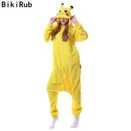 Набор унисекс пижам онлайн-Wholesale- BIKIRUB Women Long Sleeve Pajamas Unisex Flannel Sleepwear Cute Cartoon Animal Pajama Set Hooded Pyjama Homewear  UNICORN