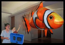 Wholesale Balloon Clown - FreeShipping High Quality Inflatable Blimp Balloon Toy ( Clown Fish or Shark ) Remote Control Flying Fish Kids Gift