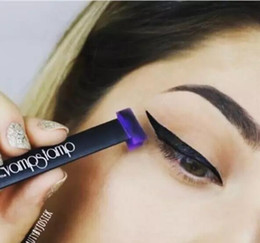 Wholesale Double Ended - Dropshipping New Arrival Vamp Stamp Winged Liner Set Hot Double-end Vavavoom Wing Stamp Medium Large Stamp With Eyeliner Cream Free Shipping