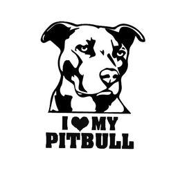 Wholesale Reflective Graphics - I Love My Pitbull Car sticker I Love My bulldog reflective waterproof stickers Hot Sale Cool Graphics Car Sticker