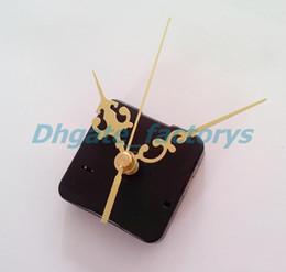 Wholesale Clock Kits Wholesale - Quartz Clock Movement No Tic Sweep Spindle Mechanism Repair Kit + Hour Minute Second Hands Free Shipping