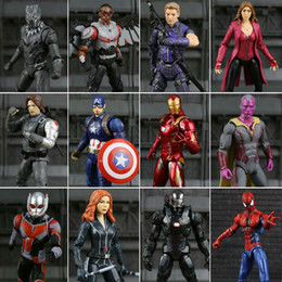 jouet pour homme Legends Civil War Captain America Panther noir Vision Falcon Iron Man PVC Action Figure jouet à partir de fabricateur