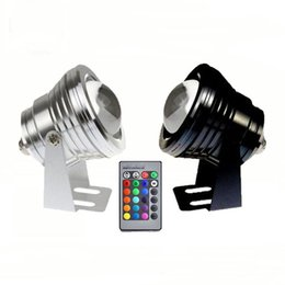 Wholesale Fountain Remote Control - New 2016 Sample 10W RGB LED Underwater Light Waterproof IP68 Fountain Swimming Pool Lamp 16 Colorful Change With 24Key IR Remote Control