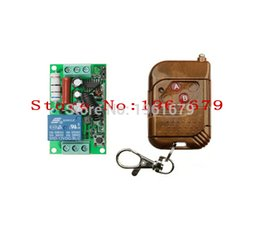 Wholesale Rf Channel Transmitter - Wholesale-AC 220 V 10 A 1 channel RF Wireless Remote Control 55*32*17 mm 1 Receiver +1 Transmitter 315 mhz or 433 mhz