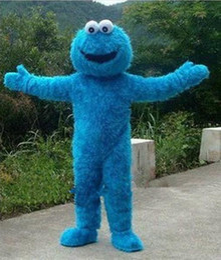 Wholesale Cheap Costumes Sesame Street - 2017 Fast Free Shipping Sesame Street Cookie Monster mascot costume Cheap Elmo Mascot Adult Character Costume Fancy Dress