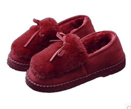 Wholesale Used Leather Shoes - 2017Cotton slippers women's thick bottom bag with winter indoor home use anti-skid wool and velvet winter household warm moon shoes