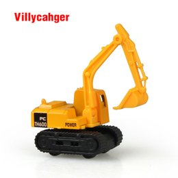 Wholesale Model Bus Toys - Mini Diecast Car construction vehicle Engineering Car Excavator Dump Roller Truck Model Classic Toy gift for friends
